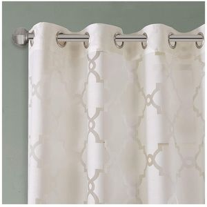 Madison Park Accents - Madison Park Eden Ivory Sheer Curtain  50x84